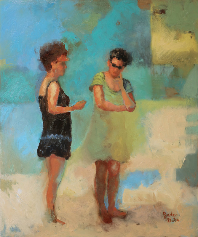 women talking on the beach sarasota florida